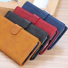 Skórzane etui do OnePlus 7 Pro okładka Vintage odwróć stań portfel posiadacza karty magnetyczny futerał ochronny na jeden Plus 7
