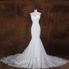 XINGFUYANG Sweetheart Neck Mermaid Mariage Dress Tiered robe de mariee Beach Tulle Wedding Dress vestidos de noiva Com Foto Real