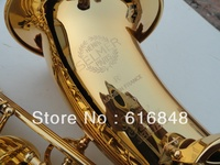 France Copy Henri Selmer Bb Tenor Saxophone Instruments Super Action 80 Series II Gold Surface