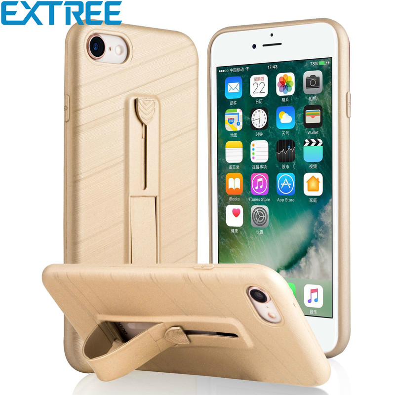 EXTREE New Phone Case for iPhone X/6/7/8 Pluscase Pull Wire Slide Bracket Anti-scraping Cell Phone Case for Samsung S8/S9Plus