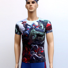 Guardians of theGalaxy T Shirts Short Sleeve High Elastic Fast Dry Tops Super Hero Shirts Water Proof Sport Riding Outdoor Tops