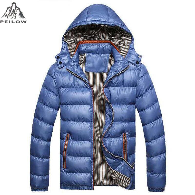 Plus size 6XL 7XL Jackets Men   Parka   coat Autumn Winter Warm Outwear Windbreak Jacket Man With Hooded Overcoats Male Clothes