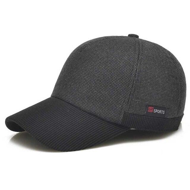 Men's autumn and winter baseball cap cotton cap ear protection warm plus velvet cap