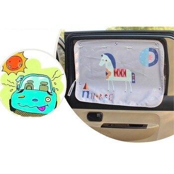 Universal Car Sun Shade Pokrywa Dowód Okno Boczne Parasolka Kurtyna Przyssawki Kreskówki Pokrywa Dla Dziecka Dzieci 9449