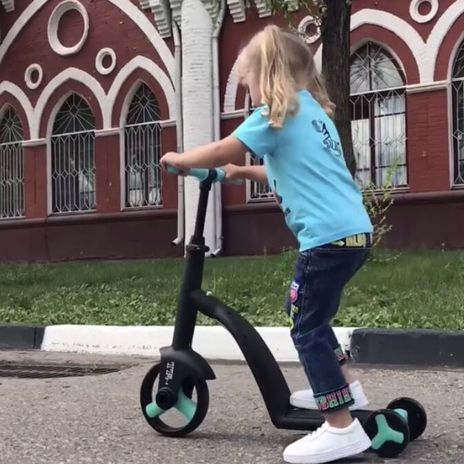 3 In 1 Balance Bike Children's Scooters 1-3-6-year-old Baby Tricycle Can Ride Treadmill