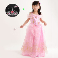 Fashion 2 9 Years Children Party Clothing For Junior Little Girls Blue Yellow Purple Pink Princess