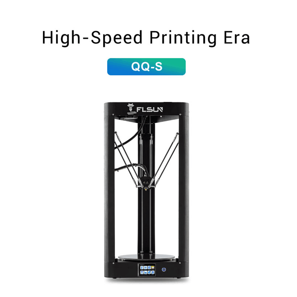 2019 High speed 3D Printer Flsun QQ S Auto Leveling Delta large printing size 3D Printer