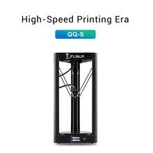 2019 yüksek hızlı 3D yazıcı Flsun QQ S otomatik tesviye Delta büyük baskı boyutu 3D Printer dokunmatik ekran Wifi