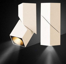 Fanlive 10szt 7W 10W 15W 20W montowane na powierzchni LED typu Downlight 360 stopni obrotowy sufitowy COB Downlight 110V 220V 240V reflektor