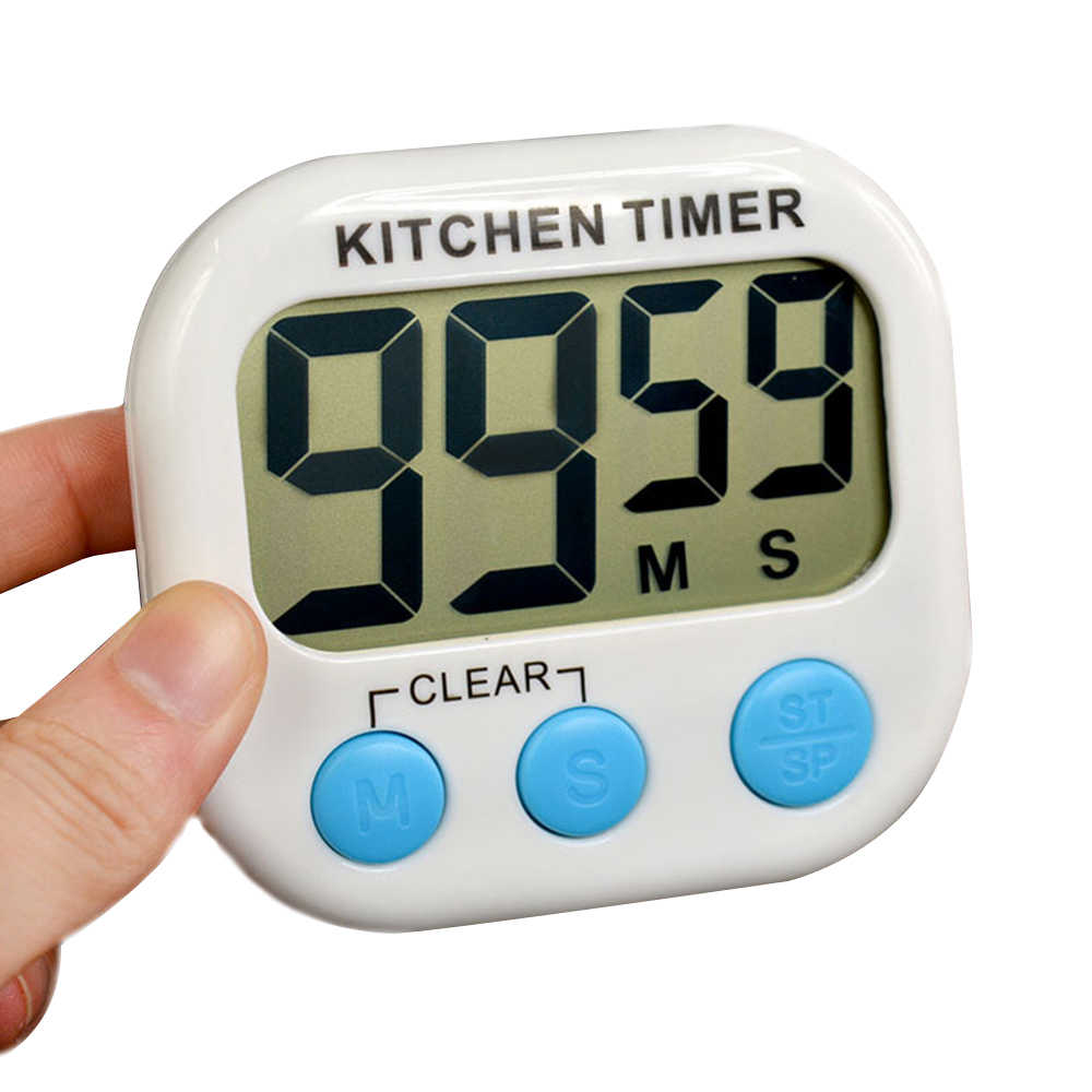 Alarm Timer Magnetic Lcd Digital Kitchen Countdown Timer Alarm With Stand White Kitchen Timer Practical Cooking Timer Alarm Clock