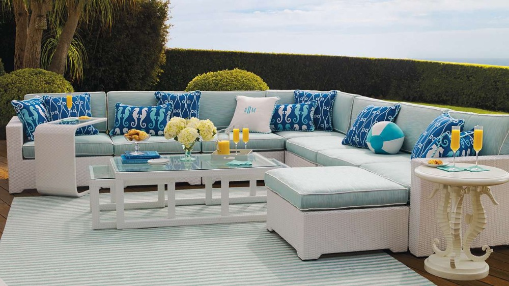 2017 Hot Sale Customized Bench Craft Resin Wicker Home Goods Patio Furniture In Garden Sofas