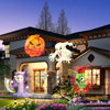 Outdoor 16 Film Pattern Replaceable Lens Night Lamp Halloween Birthday Wedding Decoration Lamp Auto Moving Fairy