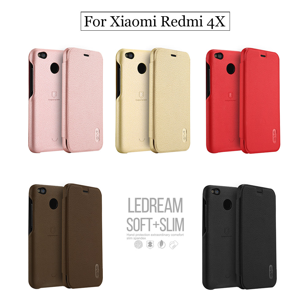 Lenuo Xiaomi Redmi 4X Case Xiaomi Redmi 4 X Case Stand Flip PU Leather Luxury Wallet
