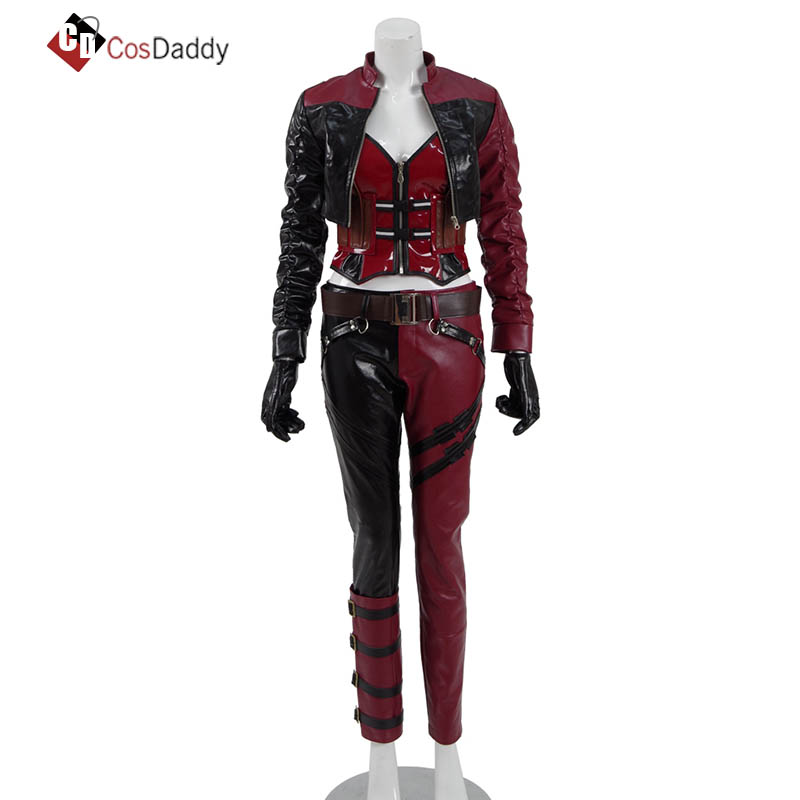Game INJUSTICE2 Joker Cosplay Costume Halloween Full Set Accessories Free Ship