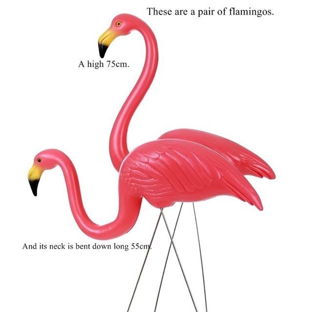 4 color plastic flamingos gardens, yards and the lawn wedding adorn adornment art garden ornaments decoration