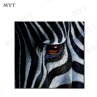 MYT Zebra's Eyes Free Shipping Hot Oil Painting Home Decoration Living Room Decor Fine Art Pictures NO Framed Oil Painting