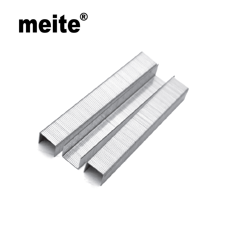 Meite 80 series staples crown 12.8mm by leg length 10mm/ 12mm, packing: 10000pcs/box,8010/8012