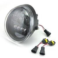 1PCS Motorcycle Bike Harley Led Lights Black Chrome Headlight Headlamp For Harley Davidson V Rod Night Street V Rod