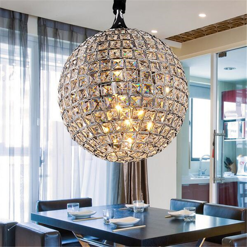 LED Ball Pendant lights Lustre Cristal Lampara Colgante For Loft Decor Pendant Lamp Droplight E27 Abajour Dia20cm Luminaire
