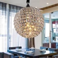LED Ball Pendant lights Lustre Cristal Lampara Colgante For Loft Decor Pendant Lamp Droplight E27 Abajour Dia20cm Luminaire