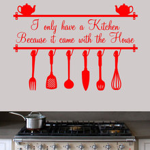 Kitchen Removable Wall Art Sticker I only have one kitchen since it carried with the Parliament room decoration accessories