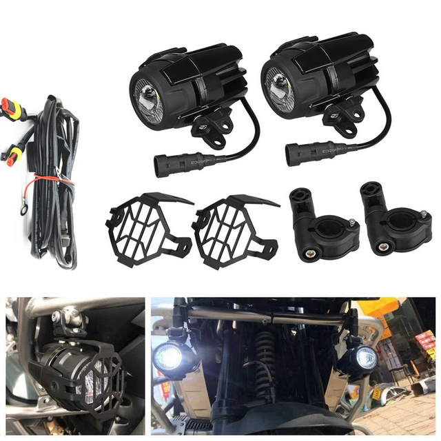 40w motorcycle led auxiliary fog light kits spot driving lamps with rh aliexpress com Engine Wiring Harness Engine Wiring Harness