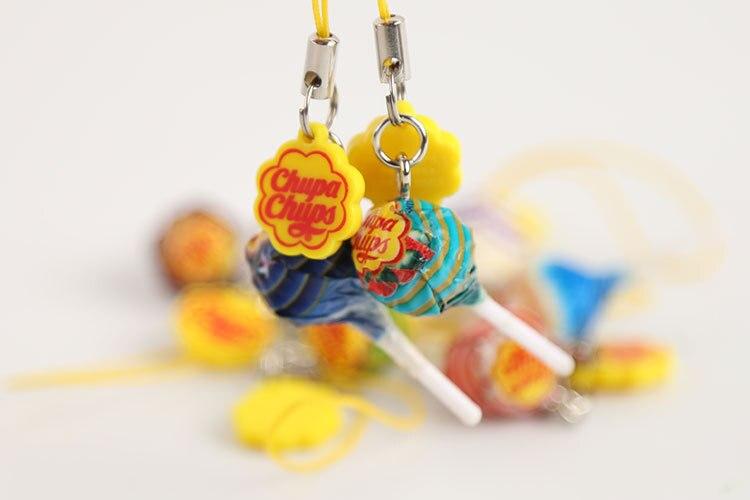 60 pz Mini CHUPA CHUPS Lecca-lecca Caramella Chiave Chain.4cm. Sapore di Massa Lecca Lecca Vaso Giocattolo. giocattoli Educativi Divertenti.