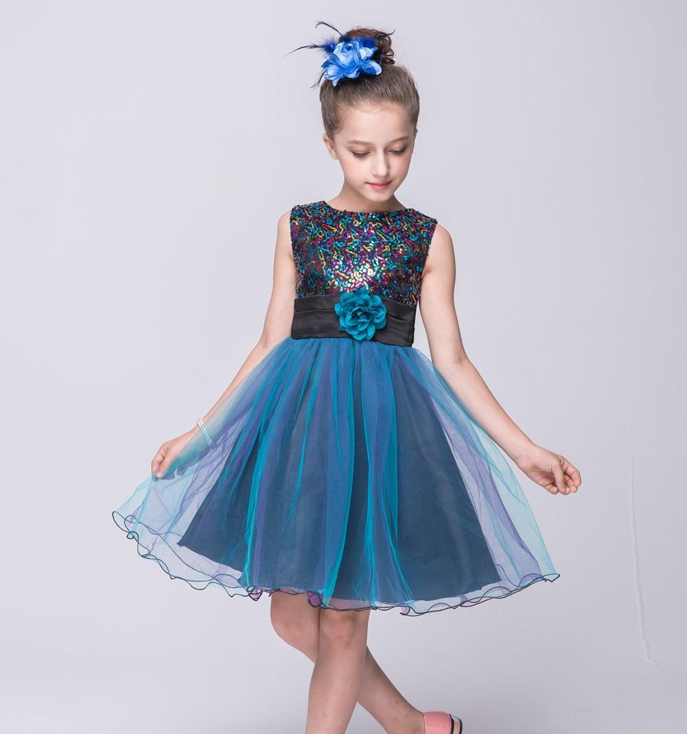 Summer Korean Kids Fashion Party Girls Wedding Dress Toddler ...