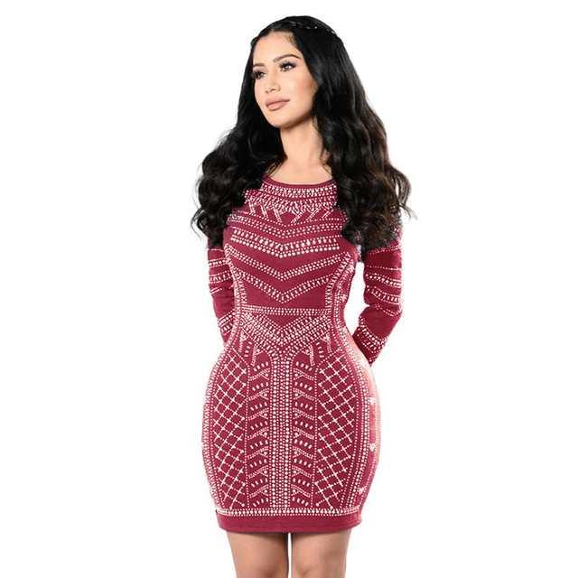 sale retailer 90045 225d6 US $10.81 31% OFF|Frauen Kleider 2017 Sexy Retro Langärmeligen Bodycon Enge  Kleider Fashion Party Kleid Frau Kleidung LJ7633Y-in Kleider aus ...