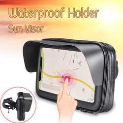 6.3 polegada à prova dwaterproof água da bicicleta suporte do telefone móvel motocicleta guiador retrovisor montar saco caso para iphone para samsung
