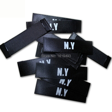 Free shipping custom clothing screen printing labels/garment care labels/clothing main labels/golden printed tags 2000 pcs a lot
