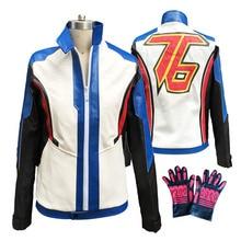 OW Game Hero Soldier 76 Cosplay Costume Video Game Cosplay Adult Men NO. 76 Jacket  Halloween Costume for Men Custom Size