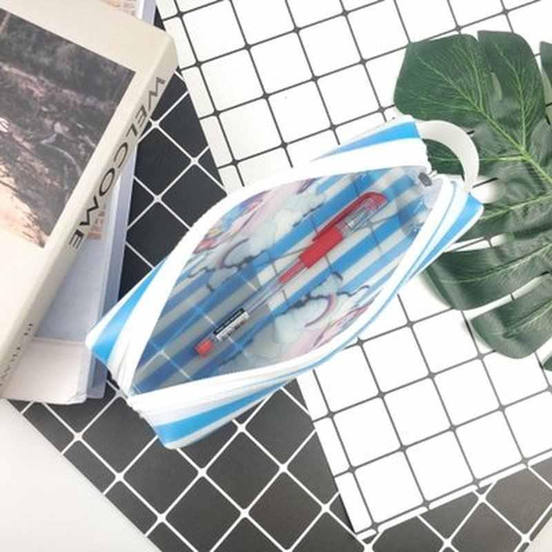 1 шт единорога карандаш мешок Новинка Канцелярские милый мультфильм ручка сумка студент подарок пенал силикагель Kawaii сумка школьные принадлежности