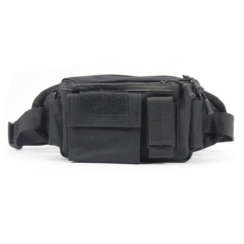 Men Nylon Chest Fanny Pack Waist Bag Hip Bum Belt Shoulder Sports Pouch Purse