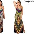 Elegant Women Maxi Dresses Sleeveless strapless jurken Floral Print flare Long Dress Vestido Sexy Boho Sundress ladies plus size