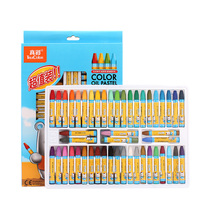Truecolor 48 Color Student Oil Painting Stick Color Painting Crayon Child Safety Non Toxic Paintbrush