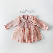 Princess dresses for Summer, Autumn Spring cute style with red and white baby kids dresses clothes 2019(China)