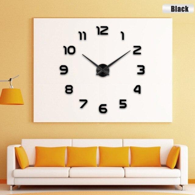 2017 New Clock Watch Wall Clocks Horloge 3d Diy Acrylic Mirror ...