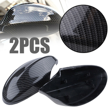 Mayitr 1 Pair Carbon Fiber Style Rearview Mirror Cover Left Right Side Rearview Mirror Covers For BMW E90 E91 2005-2008 4D carbon fiber add on style side wings mirror covers fit for bmw e92 328i 335i 2005 2008 rearview mirror caps car styling page 4