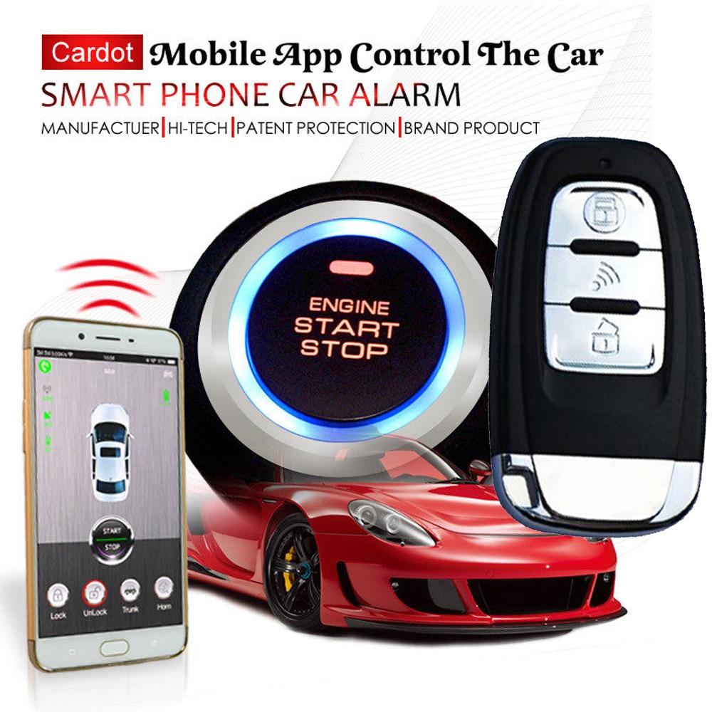 Cardot 2018 nuovo gsm sistema di allarme auto con password keyless entry pulsante di arresto di avvio di accensione on-line gps tracking negozio on-line