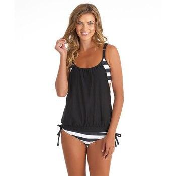 Tankini Set Plus Size Swimwear Women Swimsuit 2019 Swim Dress Swimsuit Striped Sexy Swimming Suit Bathing Suit Beachwear