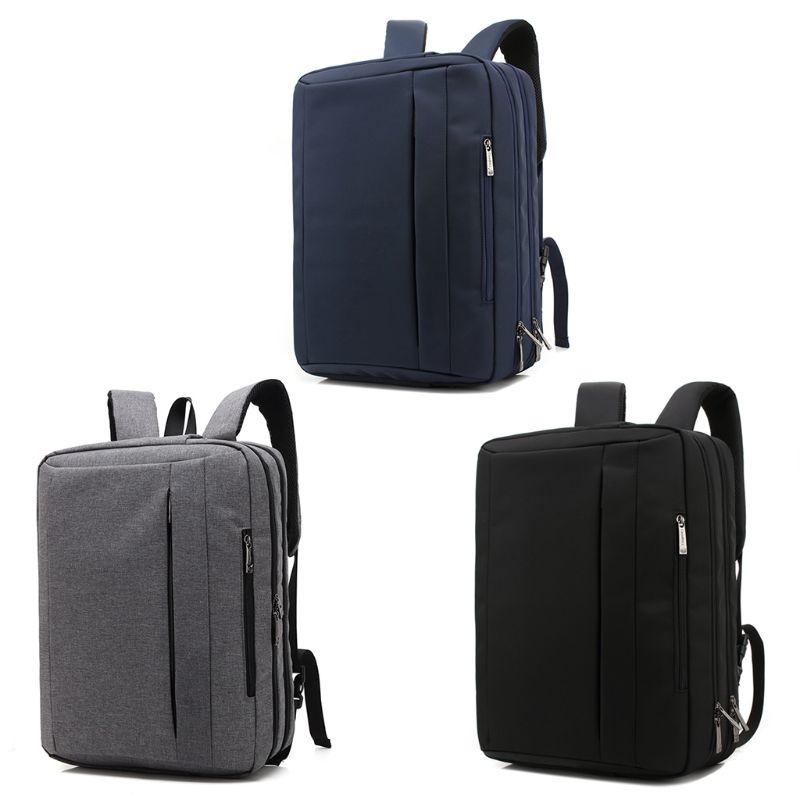 THINKTHENDO 15 6 Inch Laptop Backpack Convertible Rucksack Shoulder Bag Messenger Laptop Case Business