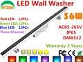 Ac85-265v 36 W DMX512 RGB LED da arruela da parede exterior holofotes alterar cor LED holofote IP65 à prova d ' água edifícios luz do projetor