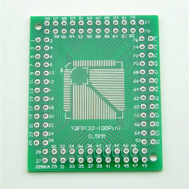 Glyduino FQFP TQFP LQFP 32 44 64 80 100 To DIP Adapter Plate PCB Board Converter