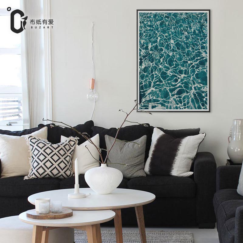 aliexpresscom buy buzart cyan and blue sea art canvas art paintings for living room wall poster hd print no frame from reliable art painting suppliers on - Cyan Living Room Decor