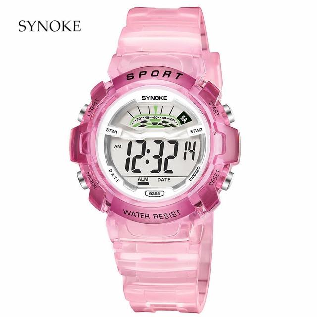 SYNOKE brand children sports watch LED digital watch boy girl student multi-func