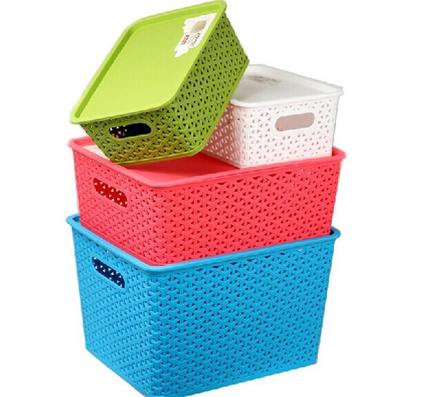 Xiangyu Colorful Candy Colored Hollow Plastic Woven Storage