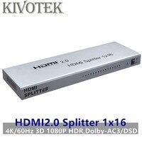 1x16 HDMI2.0 Разделение тер Adatper Разделение 4 К/60 Гц 3D HDR 1080P HDMI до 16 разъем питание для DVD PS3 CCTV Бесплатная доставка