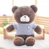 sweater design teddy bear plush toy large 80cm bear toy pillow birthday gift h878