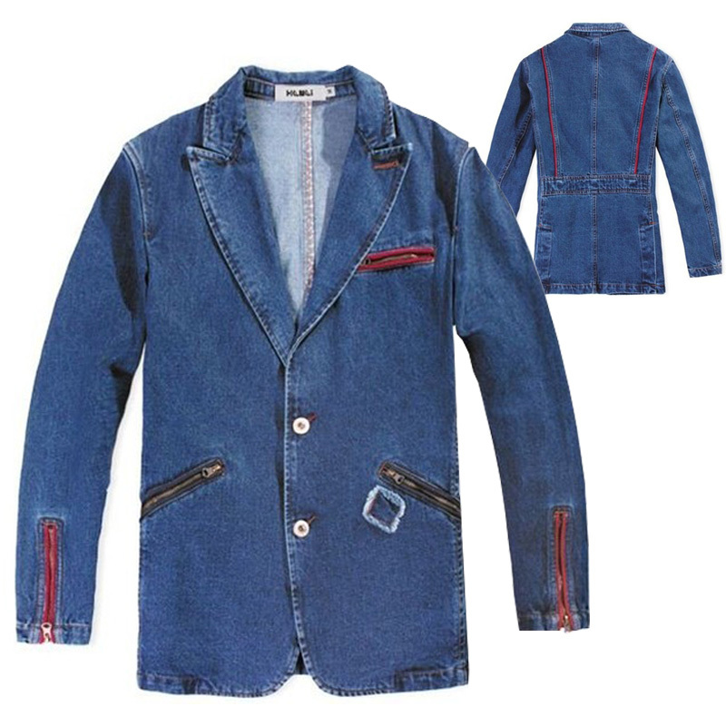 Aliexpress.com : Buy XXXL 2XL Man Casual Red Zipper Business Jean ...